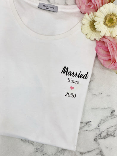 "T-Shirt Femme ""Married since 2020"""