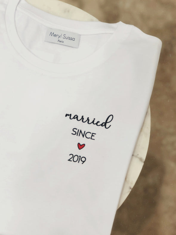"T-Shirt Homme ""Married since"""