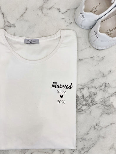 "T-Shirt Homme ""Married since 2020"""