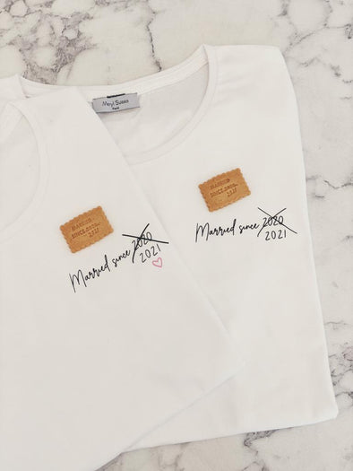 "Pack Duo T-Shirts ""Married since 2021"""