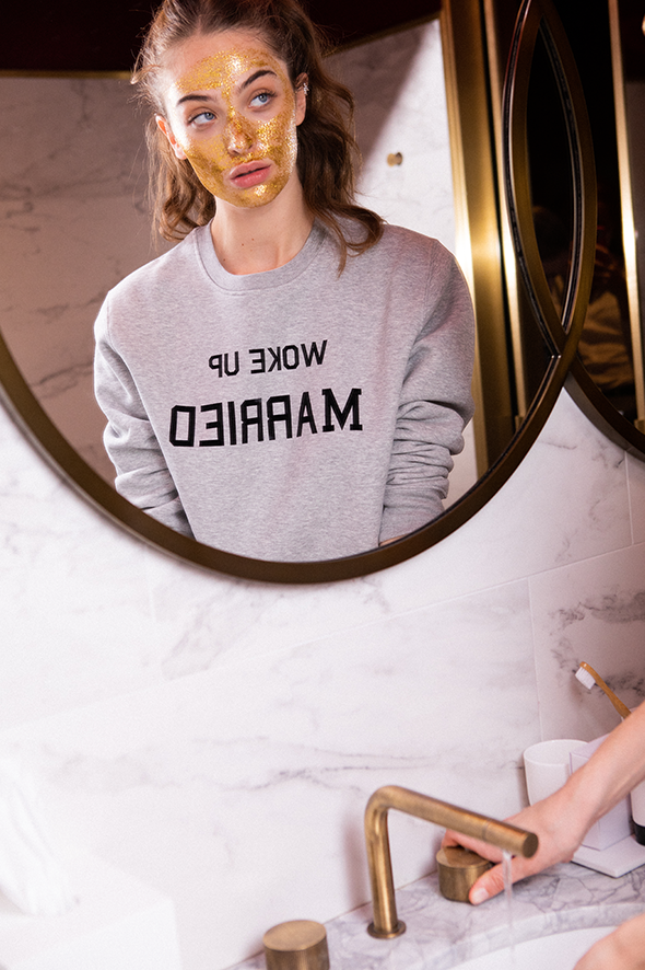 Sweat-shirt femme WOKE UP MARRIED