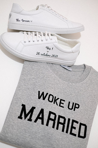 Sweat-shirt homme WOKE UP MARRIED