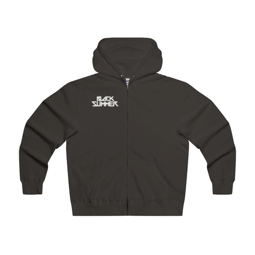 Black Summer Lightweight Zip Hoody