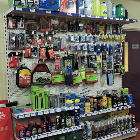 Direct4x4 showroom care care accessories selection shelf for Black Friday and Cyber Monday weekend deals.