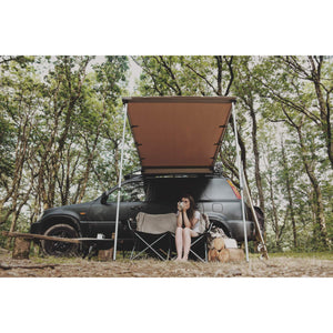 Expedition Pull-out 1.4mx2m Forest Green Vehicle Side Awning with Front