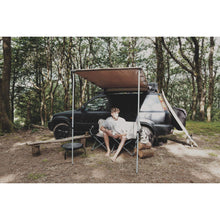 Expedition Pull-out 2mx2m Granite Grey Vehicle Side Awning with Front
