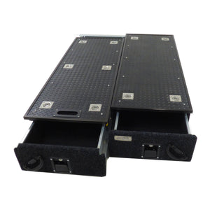 Fridge Slide Rubber Top Twin Drawer System - Direct 4x4 Accessories