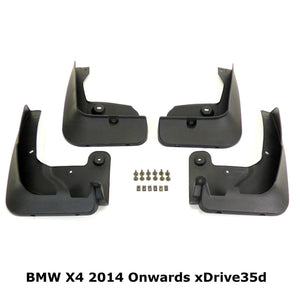 OE Style Mud Flaps Splash Guards for BMW X4 2014+ xDrive35d