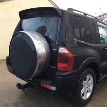 Black & Stainless Steel Wheel Cover - Direct 4x4 Accessories