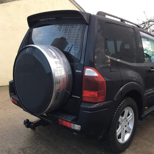 Black & Stainless Steel Wheel Cover