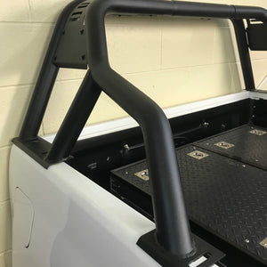 Black SUS201 Short Arm Roll Sports Bar for the Nissan Navara NP300