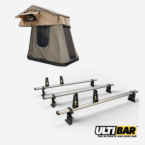 Land Rover Defender Expedition Fold Out Roof Tent + 3 x ULTI Bar [BUNDLE]