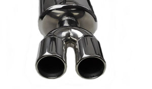 3 Inch Twin Pipe Stainless Steel Rear Silencer