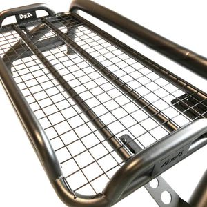 Black SUS201 Short Arm Roll Bar Cargo Basket Rack for the Nissan Navara NP300
