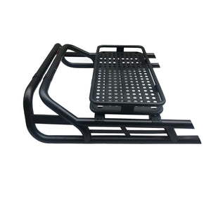 Black SUS201 Long Arm Roll Bar with Cargo Basket Rack for the Mercedes X-Class