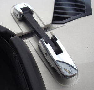 Chromed Bonnet Hood Hinge Covers for Hummer H2 2002 onwards