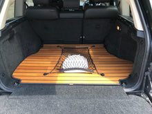 Luxury Wooden Boot Liner Protector Mats with Cargo Net for Land Rover Discovery 5 2017+