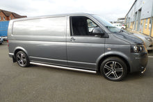 Stainless Steel Side Bars Rounded Ends for Volkswagen Transporter T5 LWB