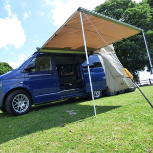 Expedition Pull-out 2mx2m Granite Grey Vehicle Side Awning with Front + 2 Sides