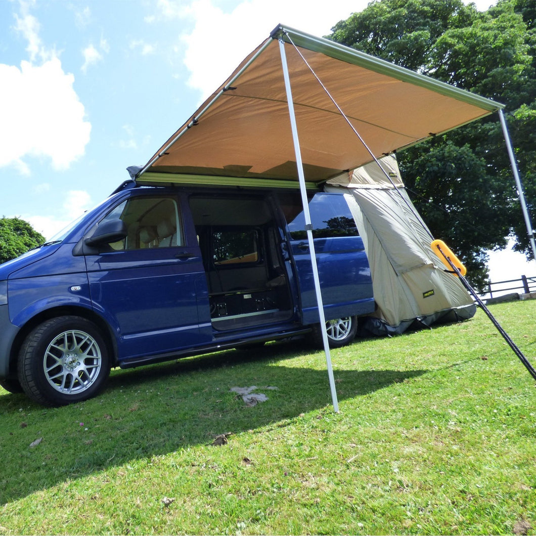 Expedition Pull-out 2.5mx2m Sand Yellow Vehicle Side Awning with Front