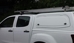 Isuzu D-Max 2012+ Double Cab Cosmic Black Solid Gullwing Tradesman V2 Canopy