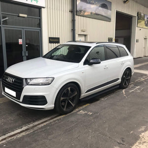 Black Raptor Side Steps Running Boards for Audi Q7 2016-2019