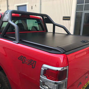 Roll & Lock Style Tonneau Cover + SUS201 Roll Bar Bundle Toyota Hilux 2016+
