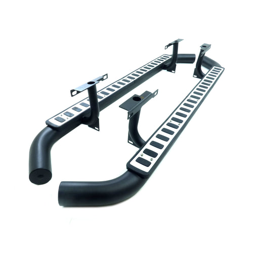 Direct4x4 | OE 'Fire and Ice' Style Tubular Side Steps for the Land Rover Defender 110 2003 onwards