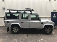 Original Manufacturer 'Fire and Ice' Style Tubular Side Steps for the Land Rover Defender 110