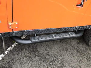 Original Manufacturer 'Fire and Ice' Style Tubular Side Steps for the Land Rover Defender 90