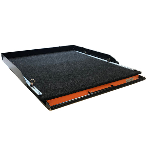 Direct4x4 Accessories UK | Heavy Duty Carpet Top Slide Out Cargo Tray