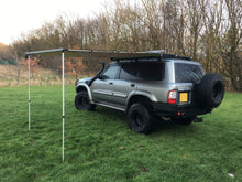 Expedition Pull-out 2mx2m Granite Grey Vehicle Side Awning with Front + 1 Side