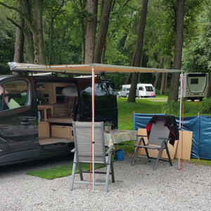 Expedition Pull-out 2mx2.5m Forest Green Vehicle Side Awning with 2 Sides