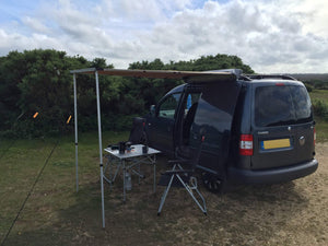 Expedition Pull-out 2mx2m Forest Green Vehicle Side Awning with 1 Side