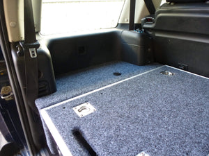 Half Slide Carpet Top Twin Drawer Storage System + Sidewing Kit for Land Rover Discovery 1/2 Models