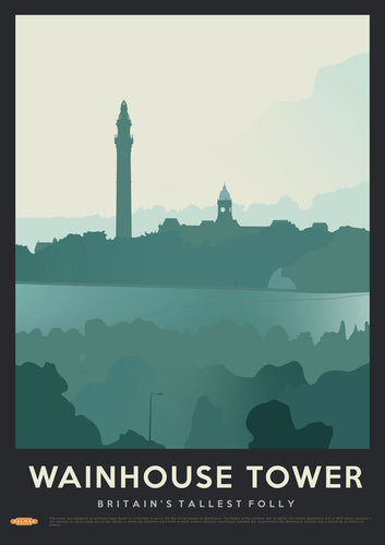 Wainhouse Tower Vintage Style Travel Print
