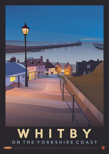 Whitby Vintage Style Travel Print
