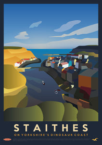 Staithes Vintage Style Travel Print