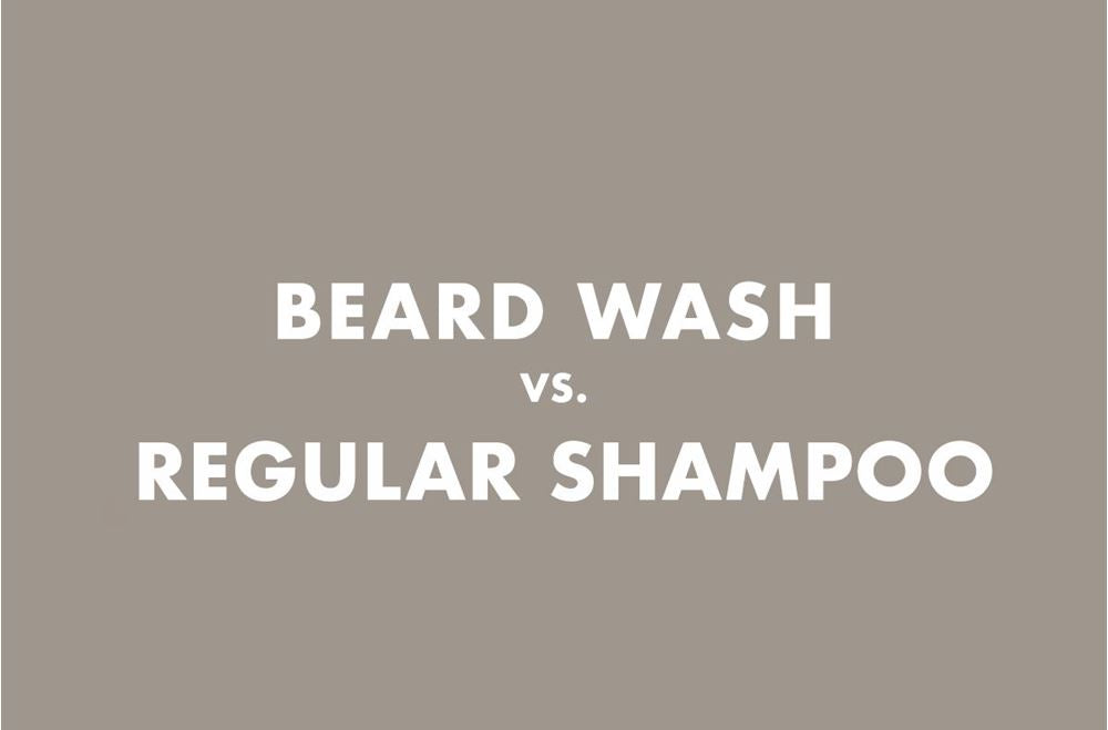 A title image 'Beard Wash vs. Regular shampoo'