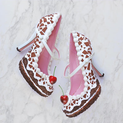 Black Forest Cake Heel Mary Jane 4""