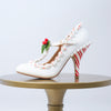 "Limited Edition Mistle""Toes"" Peppermint T-Strap Heels"