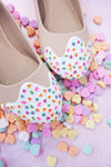 Conversation Heart Sprinkle Flats