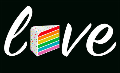 Love Rainbow Cake Sweatshirt