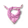 Pink Sprinkle Satin Square Scarf Large