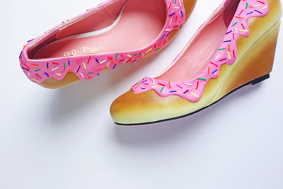 Pink Sprinkle Wedge