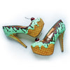 Premium Mint Ice Cream Heels