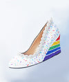 Rainbow Cake Wedges 2.5""