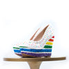 Rainbow Cake Wedges