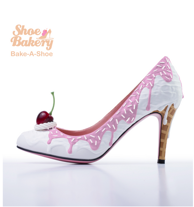 Baked and Ready Pink Syrup Ice Cream Heel  sz 8.5