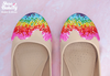 Baked and Ready Rainbow Sprinkles Flats  sz 7